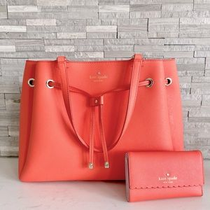 Kate Spade Cape Drive Bag and Wallet  - Coral